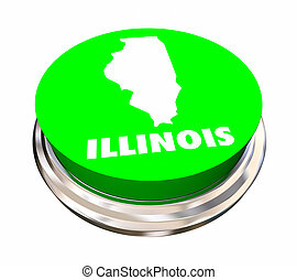 Illinois IL State Button Best Location Choice 3d ...
