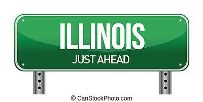 illinois, panneaux signalisations