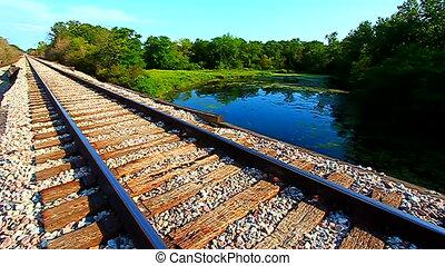 Illinois Railroad Tracks Landscape - Railroad tracks go on...