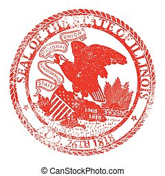 Illinois Seal Stamp