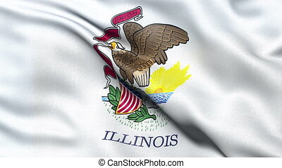 Illinois state flag seamless loop