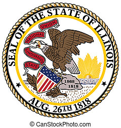 Illinois State Seal over a white background