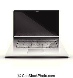 illsutration, ordinateur portable, vecteur, affichage écran