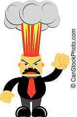 Illsutration Vector Graphic Cartoon Character of Angry Boss