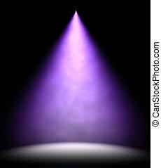illuminare, luce, pavimento, illustrazione, 3d, macchia, palcoscenico