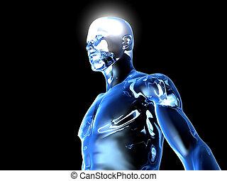 Illuminated - 3D rendered Illustration.
