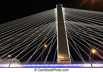 Illuminated Basarab Bridge