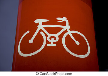 Illuminated Bike Sign