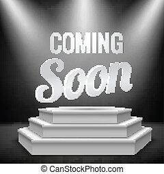 Illuminated blank podium