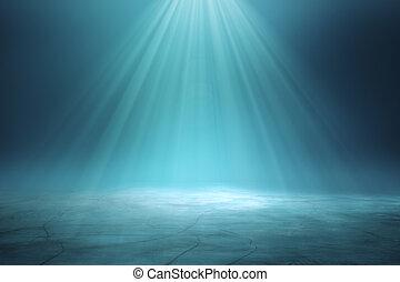 Illuminated blue backdrop