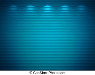 Illuminated blue wall, abstract background