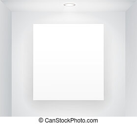 Illuminated board on the wall. Ready for your content