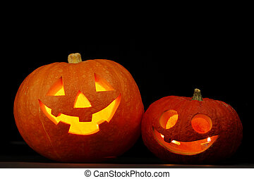 Illuminated cute halloween pumpkin - Illuminated cute...