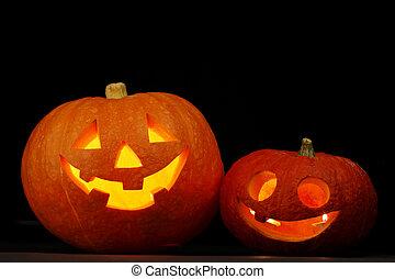 Illuminated cute halloween pumpkin - Illuminated cute...