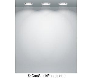 Illuminated empty wall template