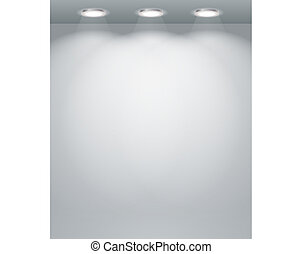 Illuminated empty wall template