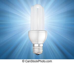 Illuminated energy saving light bulb