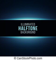 Illuminated gradient background with halftone pattern