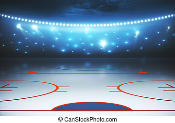 Illuminated hockey field background