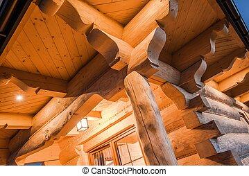 Illuminated Log Cabin