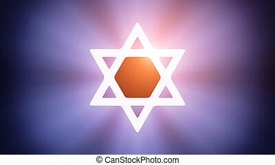 Illuminated Magen David - Radiant light from the symbol of...