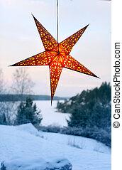 Illuminated night star