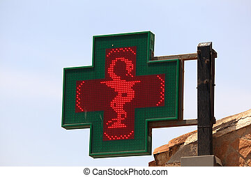 Illuminated pharmacy sign