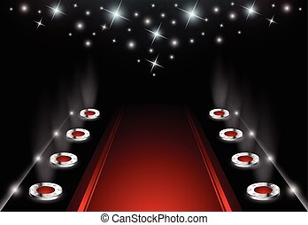 Illuminated Red Carpet