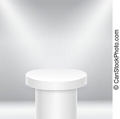 Illuminated round stage podium