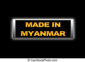 Made in Myanmar.