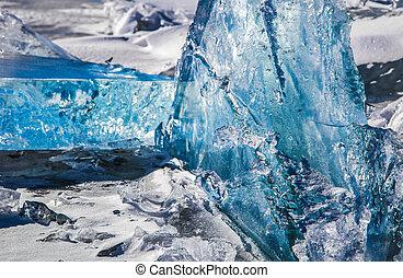 Illuminated Winter Ice