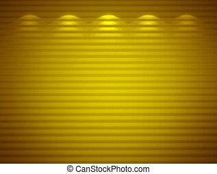 Illuminated yellow wall, abstract background