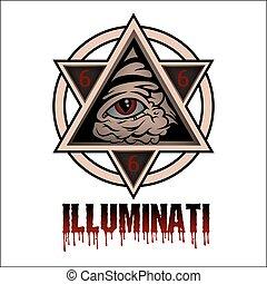 Illuminati - All seeing eye pyramid symbol