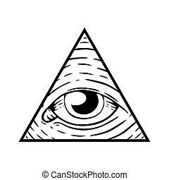 Illuminati Sign - Eye of God