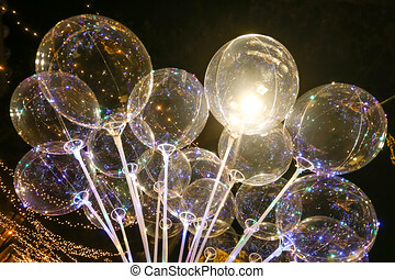 Illuminating led baloons - The group of illuminating...