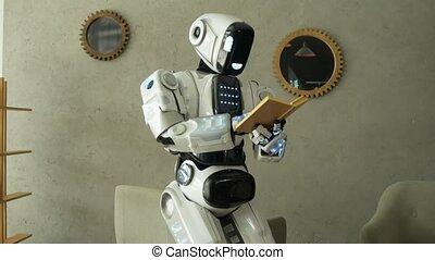 Illuminating robot learning new things while reading