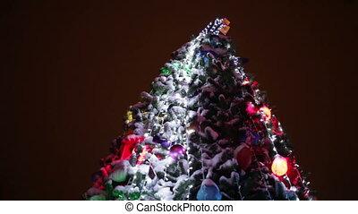 illumination, arbre, noël