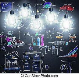 Illumination - Concept of creativity and new idea in a...