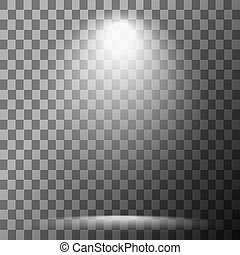 illumination, scène, projecteur