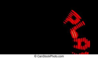 Illumination sign PLAY rotates in dark - illumination sign...