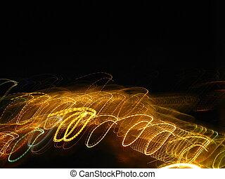 Illumination street lights in moving