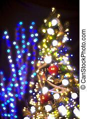 illuminations, arbre, noël