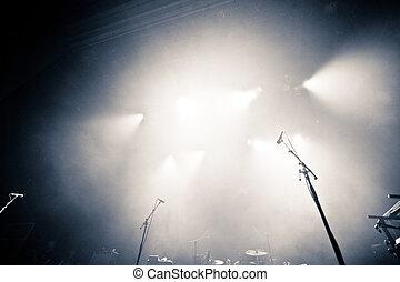 illuminato, palcoscenico vuoto