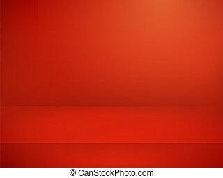 illuminato, stage., vettore, pubblicità, sagoma, rosso, illustration.