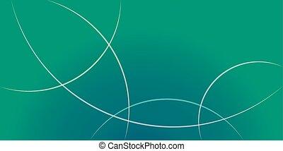 illuminato, turchese, vettore, anelli, testata, mare, orizzontale, radiale, colore sfondo, banner., astratto, verde, pendenza, onda, blu
