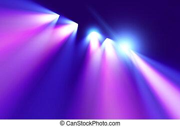 illuminazione, concerto, colorito