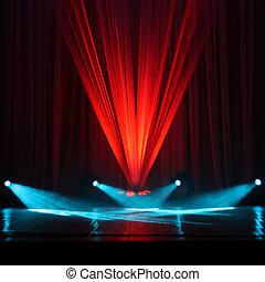 illuminazione, di, uno, palcoscenico