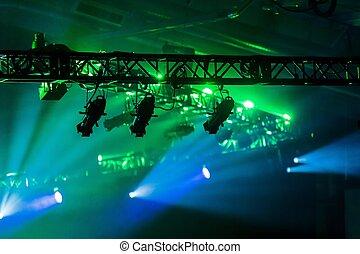 illuminazione, palcoscenico