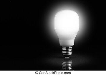 illuminazione, standing, lampadina