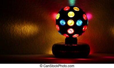 illuminer, électrique, mur, lumière, sphère, rotations
